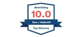 AVVO Top Attorney badge for Dara Goldsmith